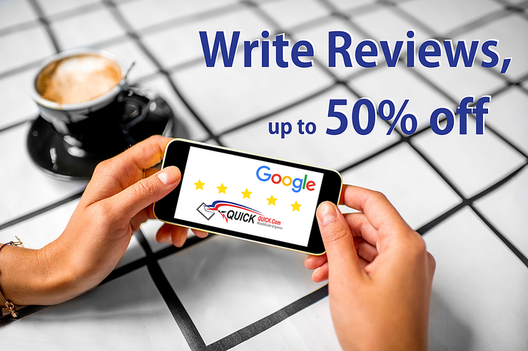 Write Reviews, Get Coupon